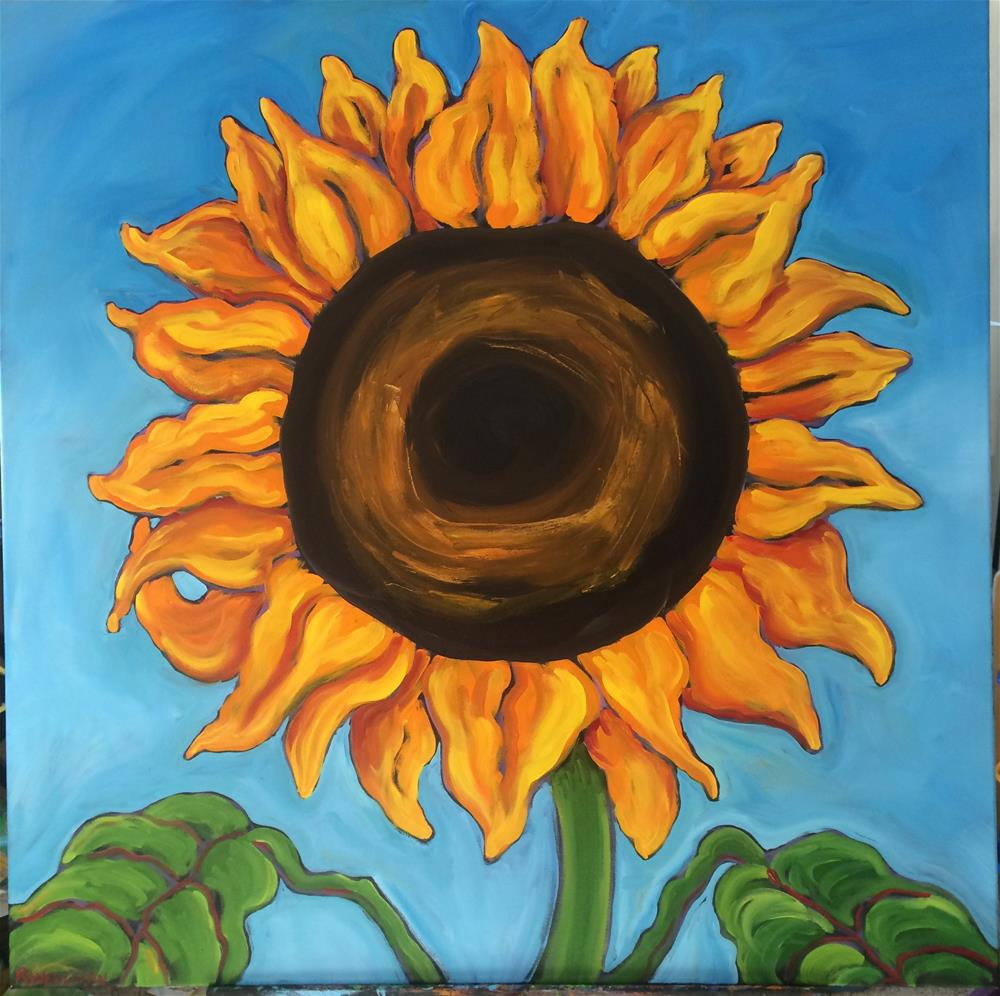 """Sunflower"" original fine art by Robyn Wellman"