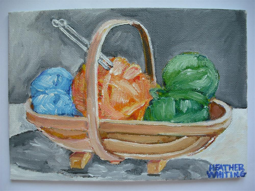"""The Wool Trug"" original fine art by Heather Whiting"