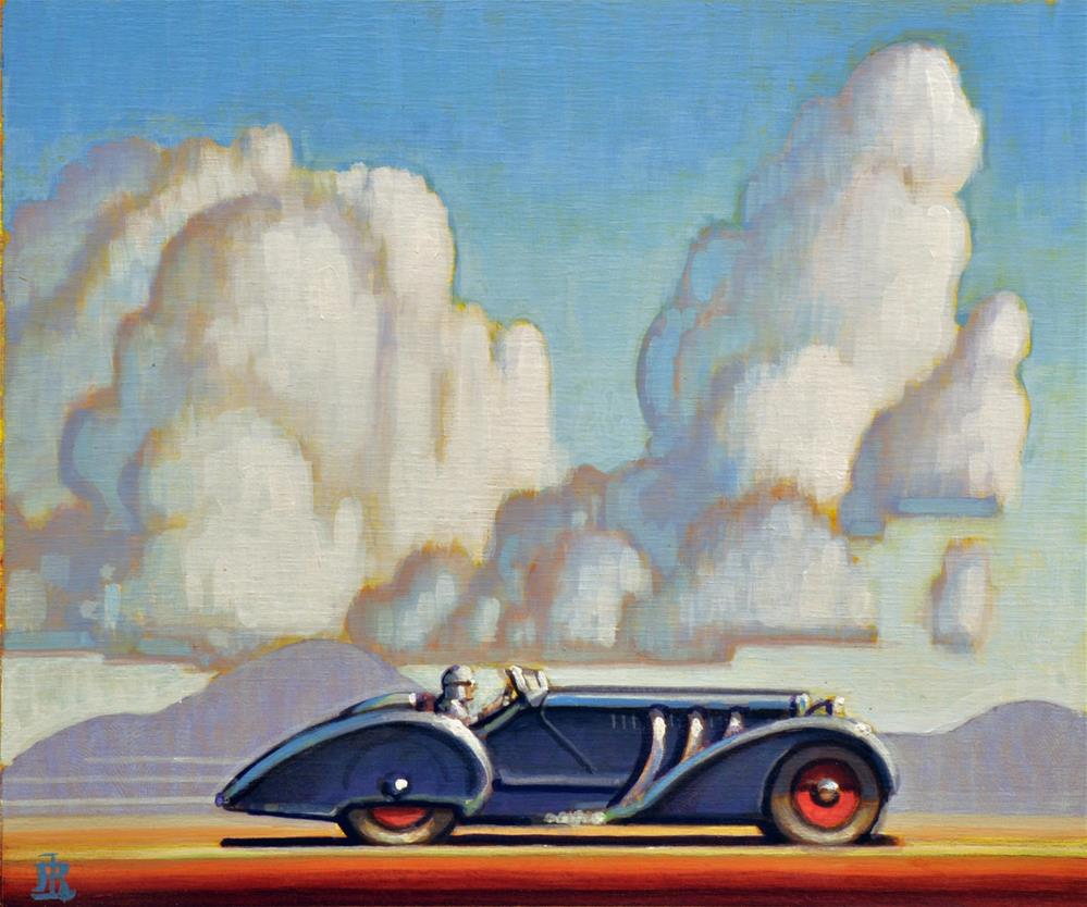 """Motoring"" original fine art by Robert LaDuke"