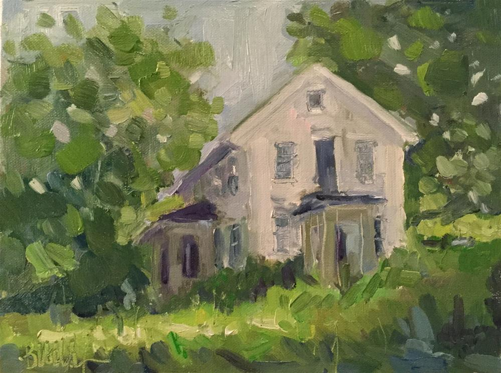 """Two Porches"" original fine art by Barb Walker"