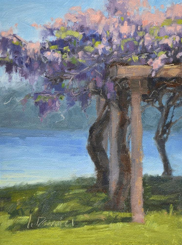 """Arbor Wisteria"" original fine art by Laurel Daniel"