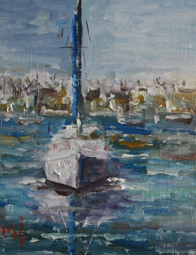 """Newport Harbor"" original fine art by Deborah Harold"