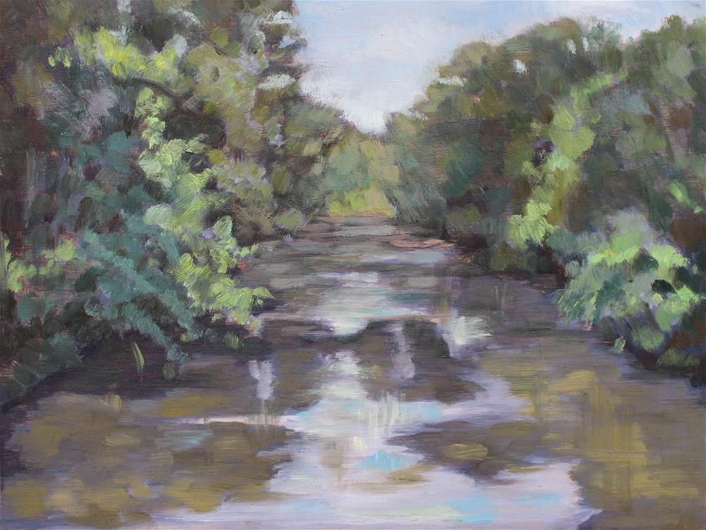 """""""The Pond at Somerset"""" original fine art by Allison Doke"""