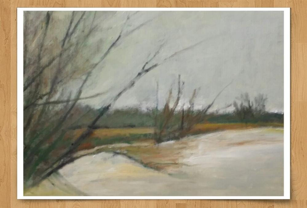"""""""The After Rain Field (9 x 12 Oil on canvas sheet - no frame)"""" original fine art by Ramon DelRosario"""
