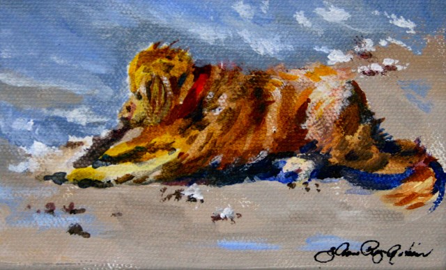 """Give a Dog a Bone"" original fine art by JoAnne Perez Robinson"