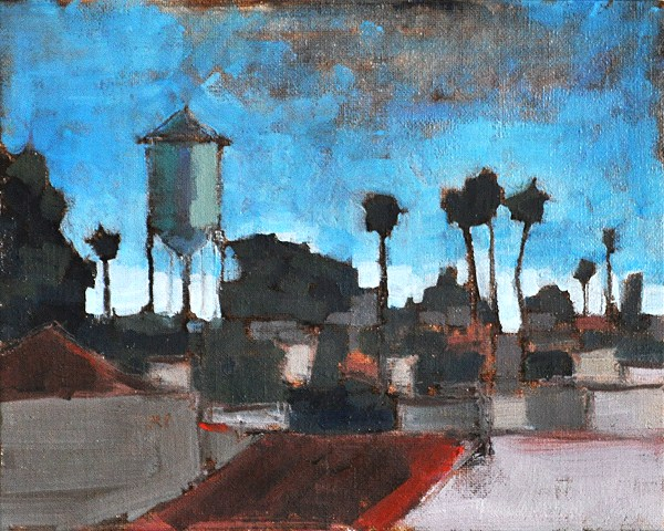 """Water Tower in North Park"" original fine art by Kevin Inman"