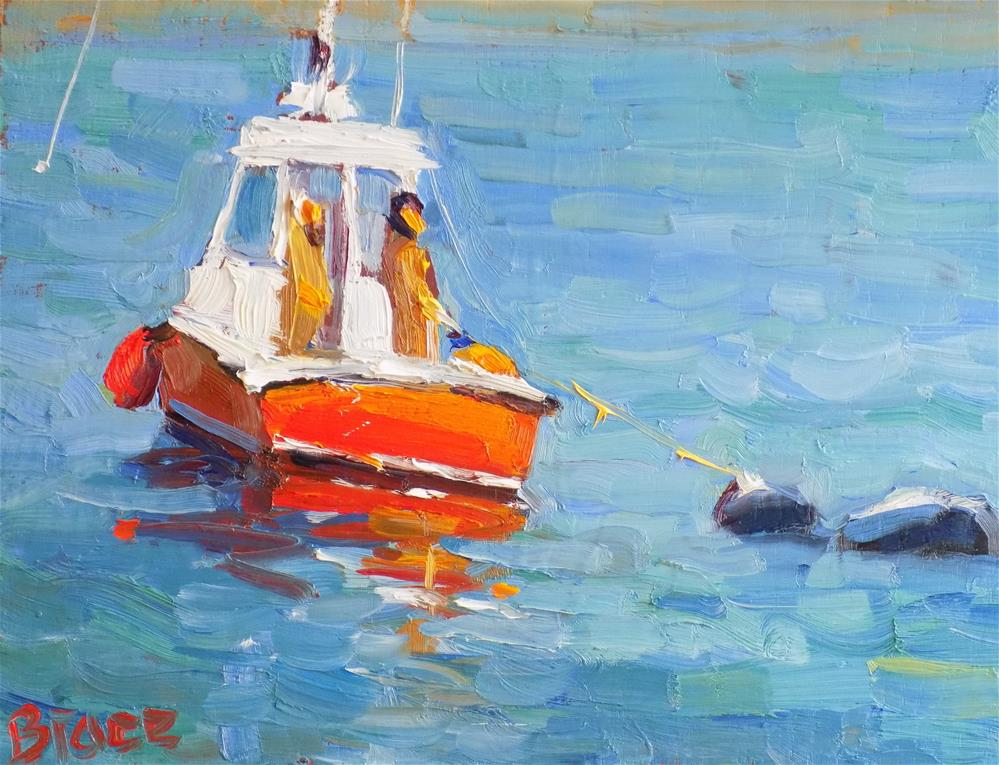 """Salvor, Plymouth Harbor"" original fine art by Rita Brace"