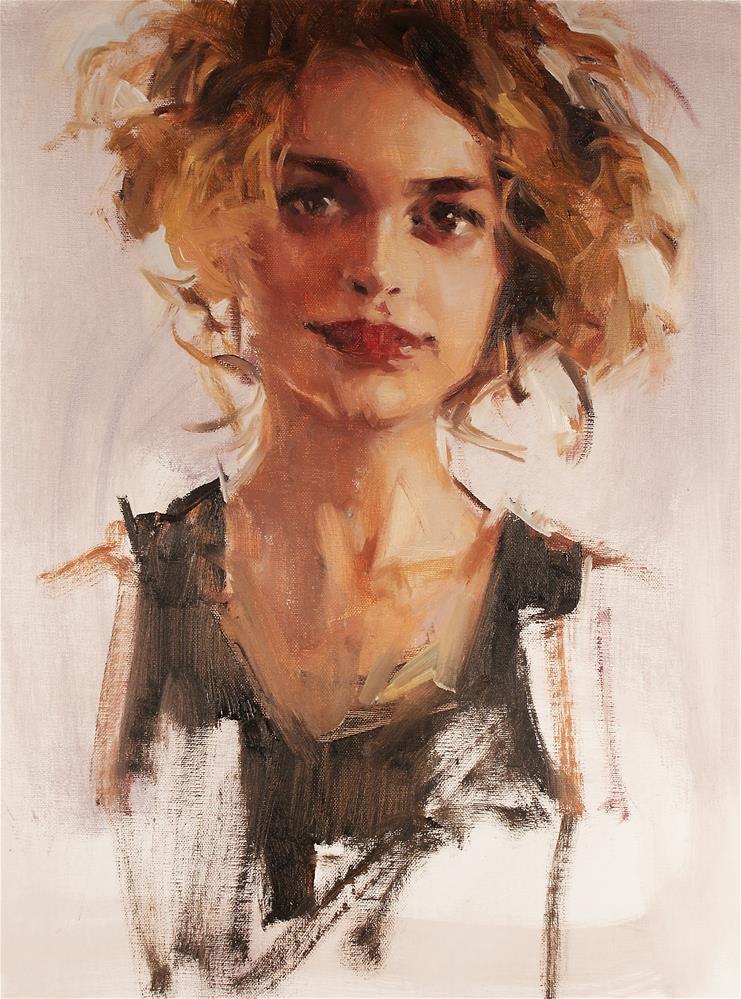 """""""Portrait Study"""" original fine art by Mike Peterson"""