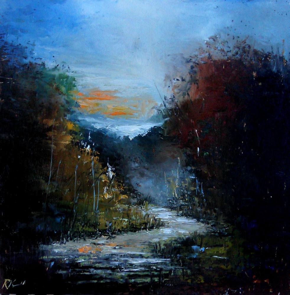 """Winding Mountain River"" original fine art by Bob Kimball"