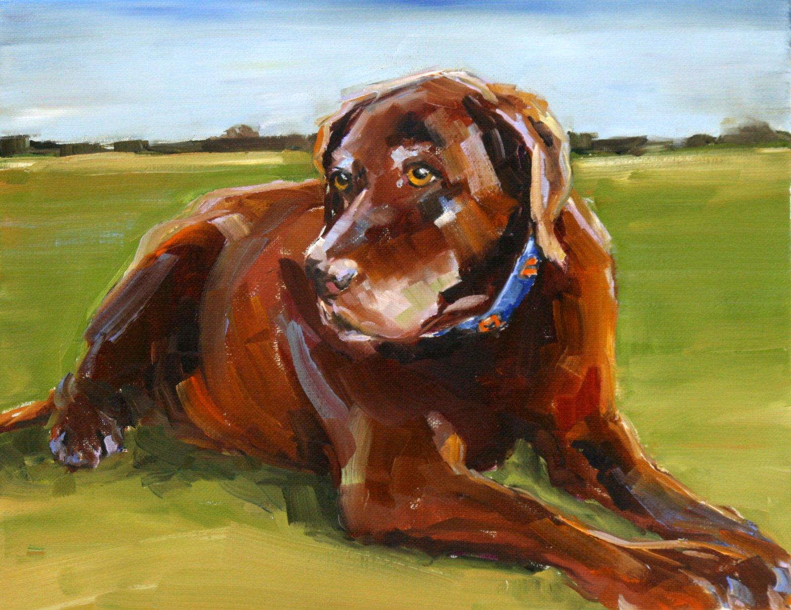 """ginger"" original fine art by Carol Carmichael"