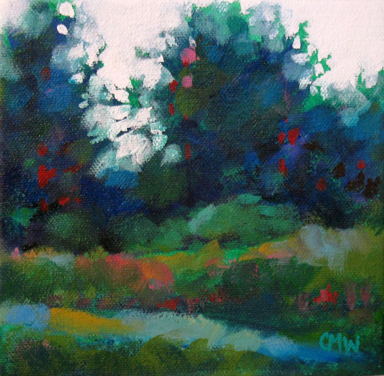 """Edge Path"" original fine art by Cindy Wentzell"