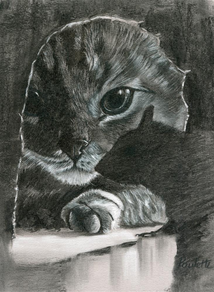 """Cat and Mouse"" original fine art by Paulette Farrell"