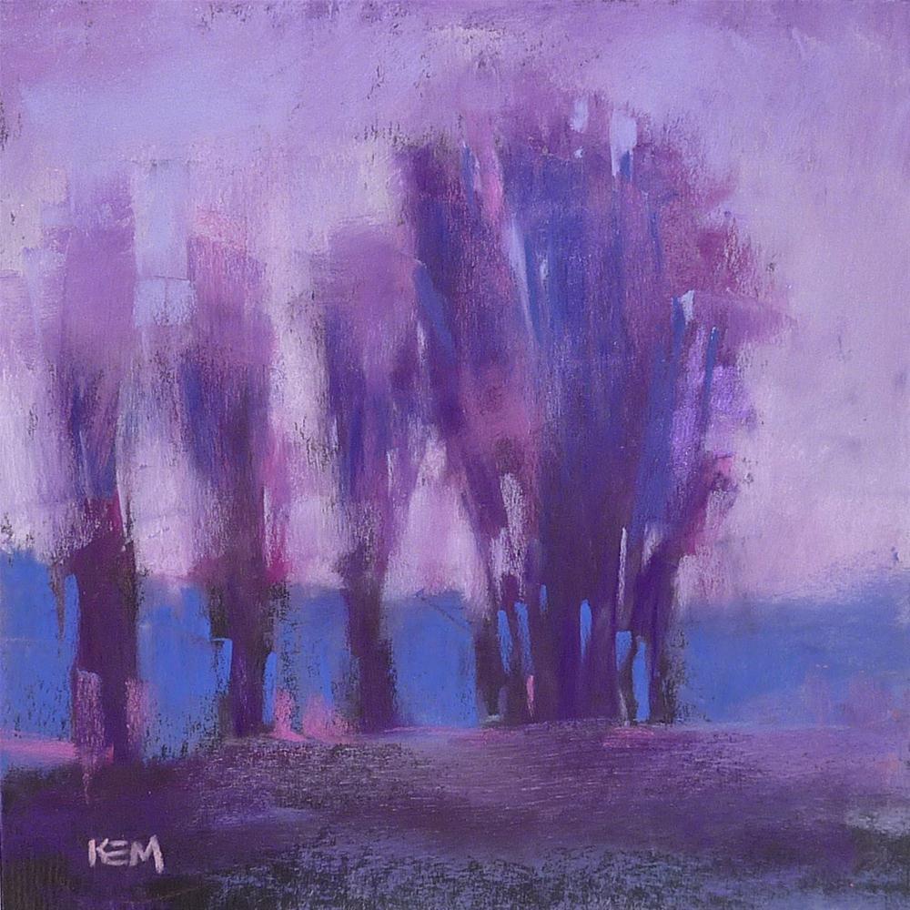 """Violet Ranch Contemporary Landscape"" original fine art by Karen Margulis"