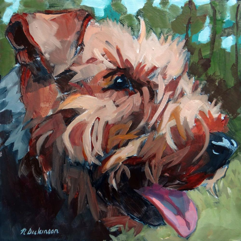 """Kipper"" original fine art by Nat Dickinson"
