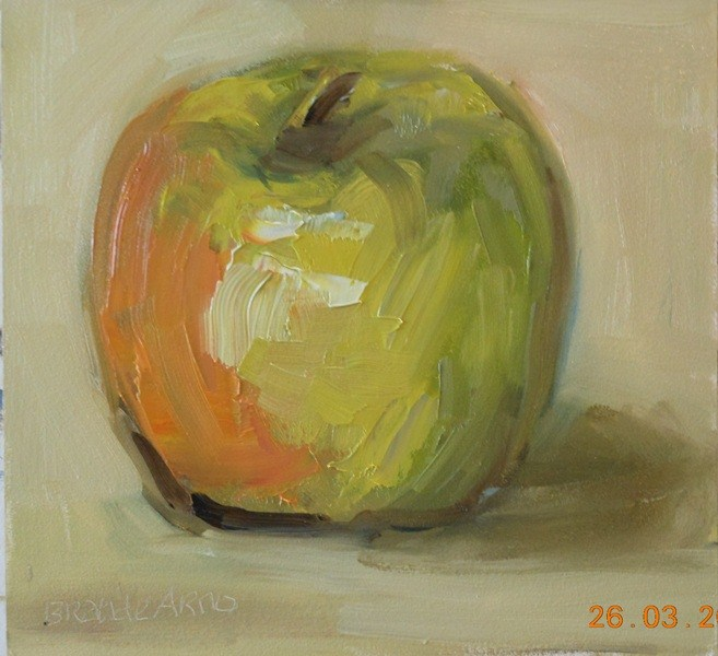 """Painted My Apple"" original fine art by Brande Arno"