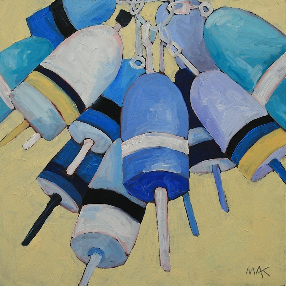 """Blue Buoy"" original fine art by Mary Anne Cary"