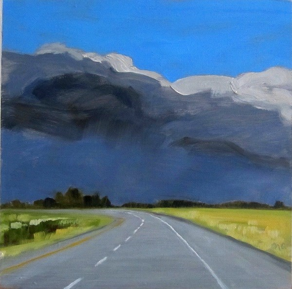 """Bend In The Road"" original fine art by Nicki Ault"