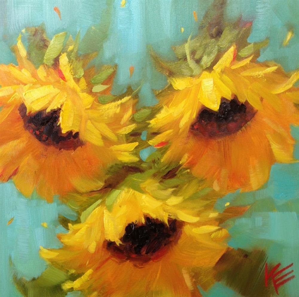 """Sunflowers For May"" original fine art by Krista Eaton"