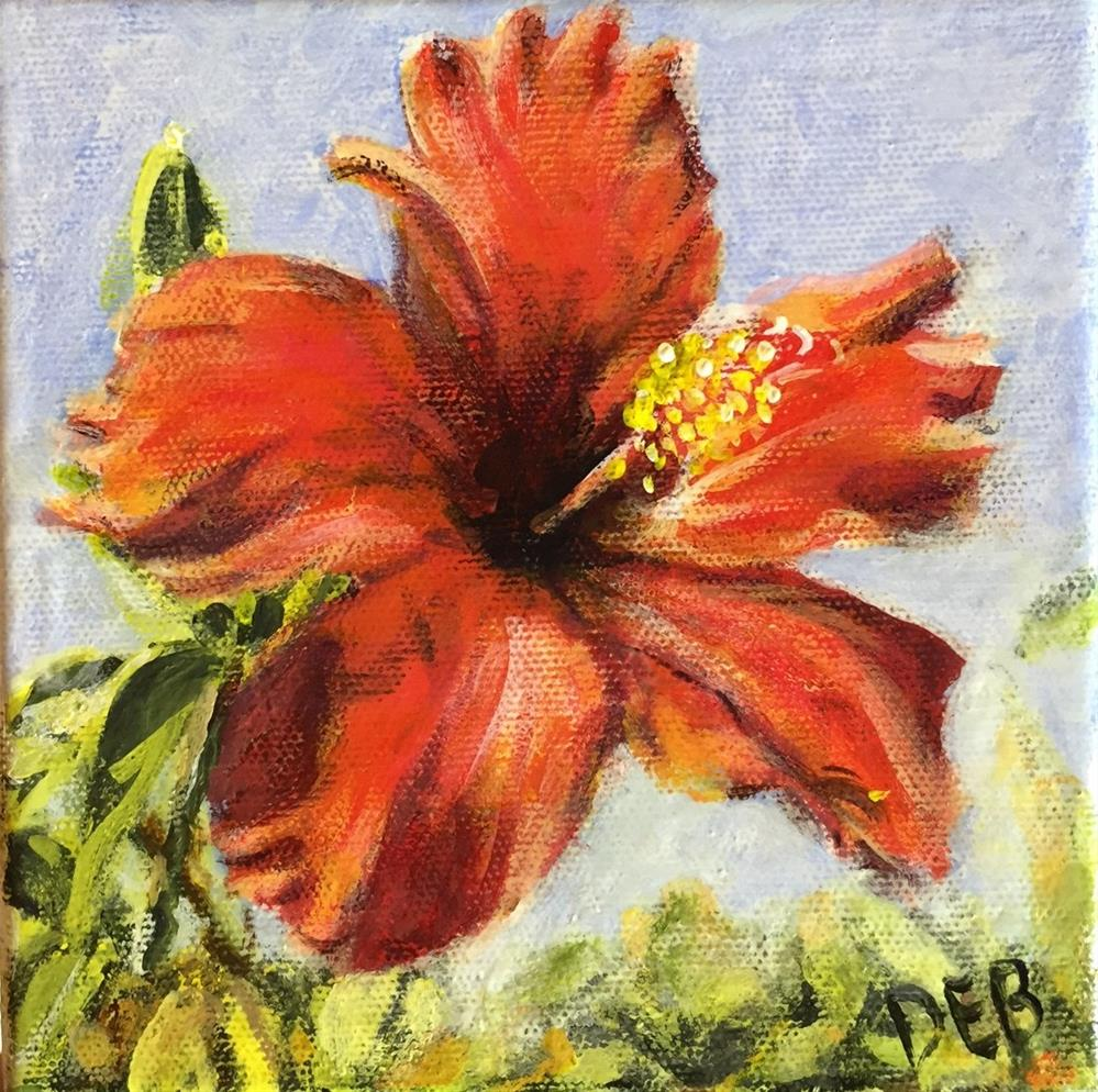 """Hawaiian Hibiscus"" original fine art by Debbie Yacenda"