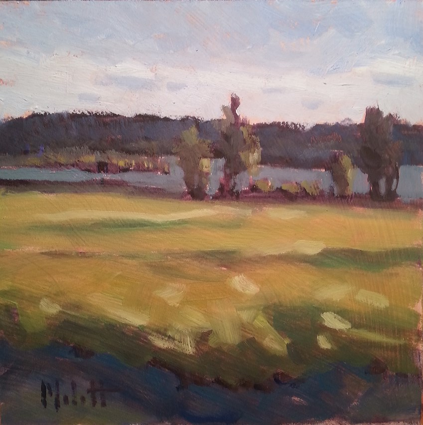 """Lake in September Daily Oil Painting"" original fine art by Heidi Malott"