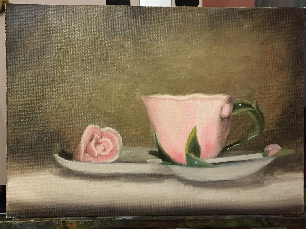 """The little tea cup"" original fine art by Jiani Shan"