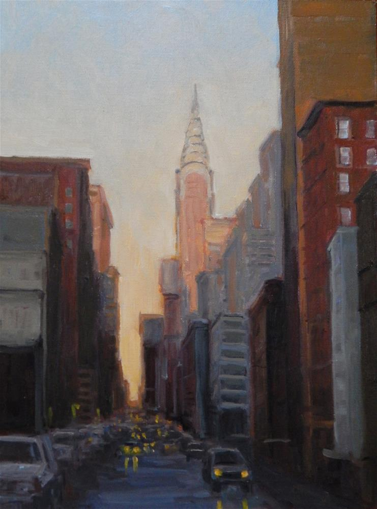 """Sunset on the Chrysler Building"" original fine art by Lisa Kyle"