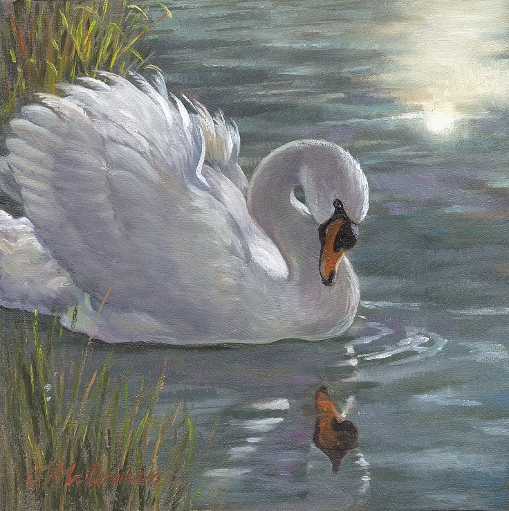 """Ugly Duckling"" original fine art by Connie McLennan"