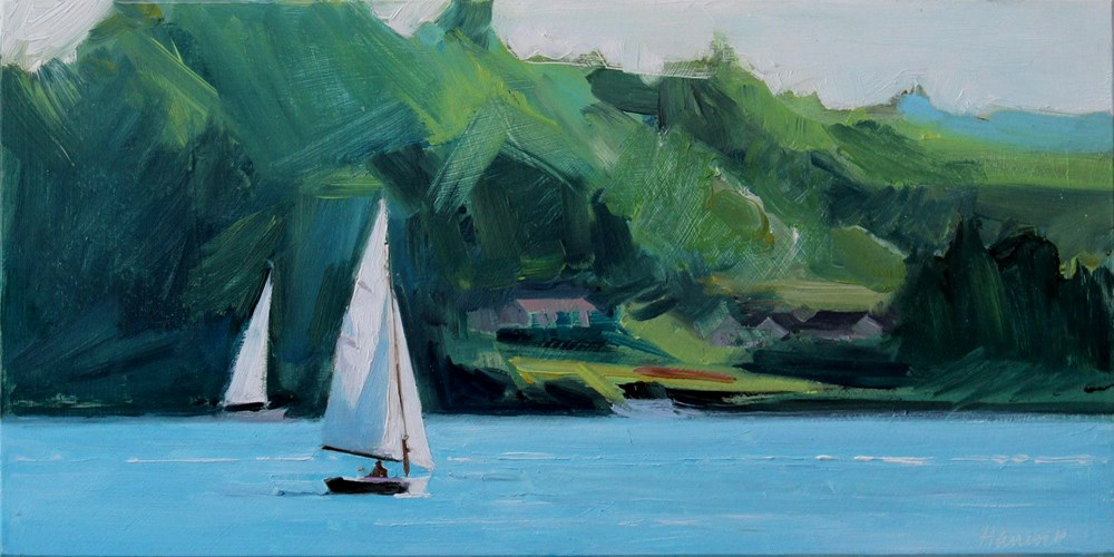 """Sailing Around Quartermaster"" original fine art by Gretchen Hancock"