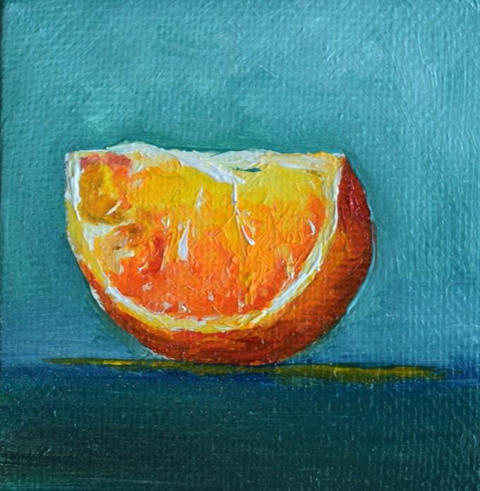 """""""Orange Slice"""" original fine art by Stefan Peters"""