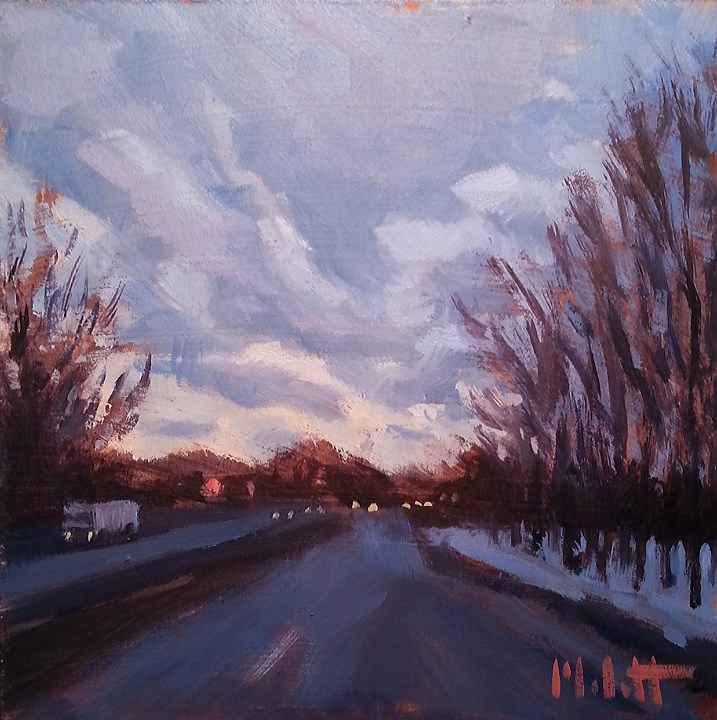 """Nightfall Impressionism Original Daily Oil Painting"" original fine art by Heidi Malott"