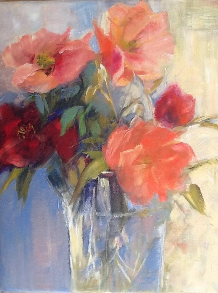 """Camelias"" original fine art by Jean Fitzgerald"