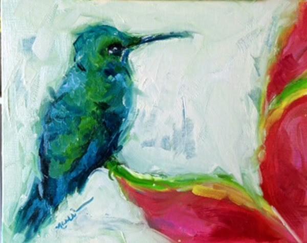 """Namaste"" original fine art by Marcia Hodges"