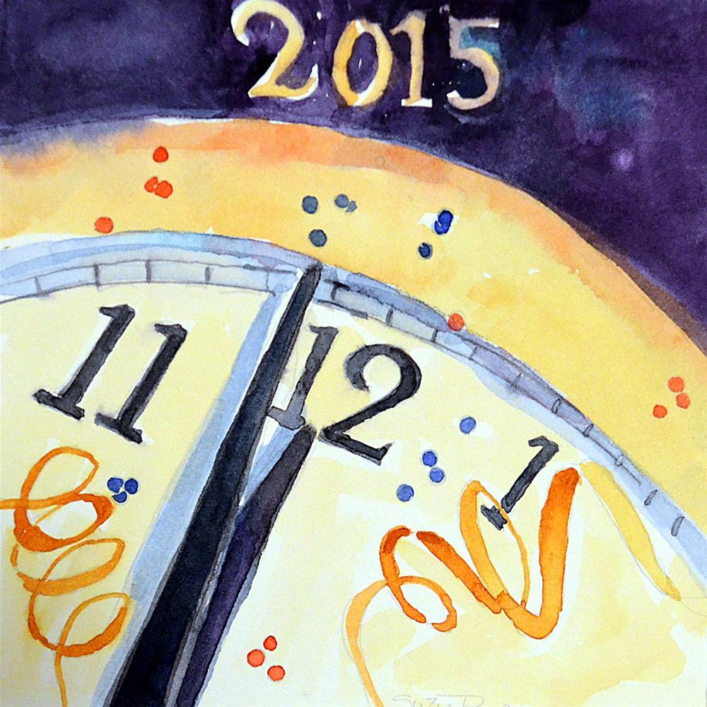 """Happy New Year"" original fine art by Suzy 'Pal' Powell"