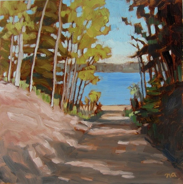 """Path To The Beach, McPhee"" original fine art by Nicki Ault"