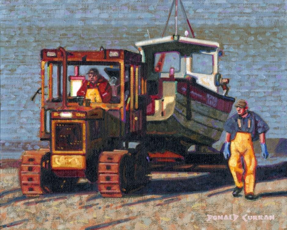 """Days End"" original fine art by Donald Curran"