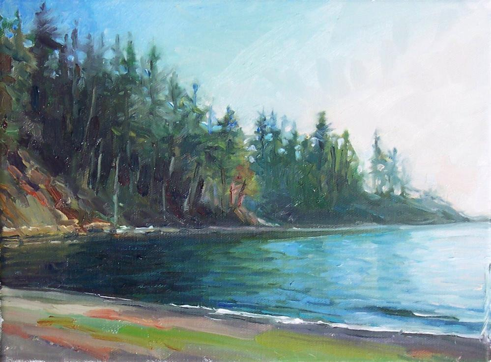 """Larrabee Park Boat Launch,seascape,oil on canvas,9x12,priceNFS"" original fine art by Joy Olney"