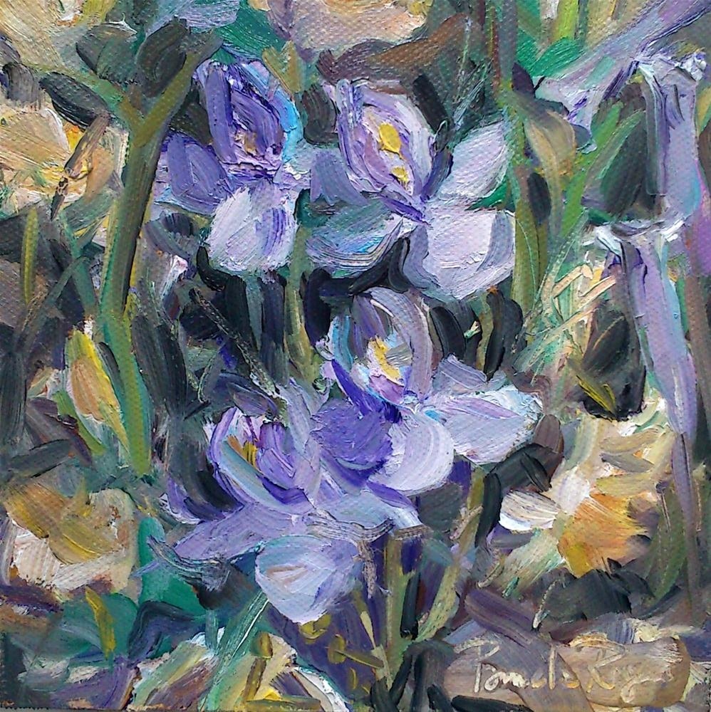 """Wild Iris and Narcissis"" original fine art by Pamela Jane Rogers"