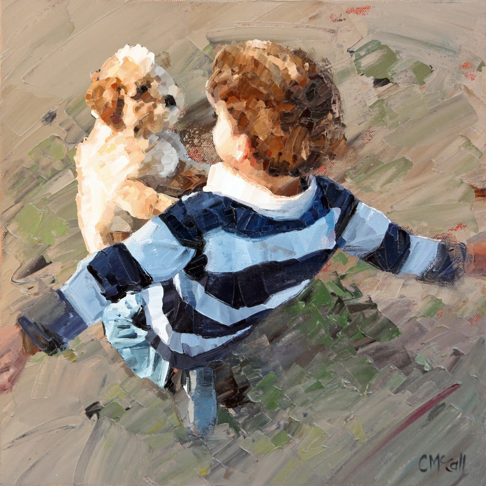 """Best Friends"" original fine art by Claire McCall"