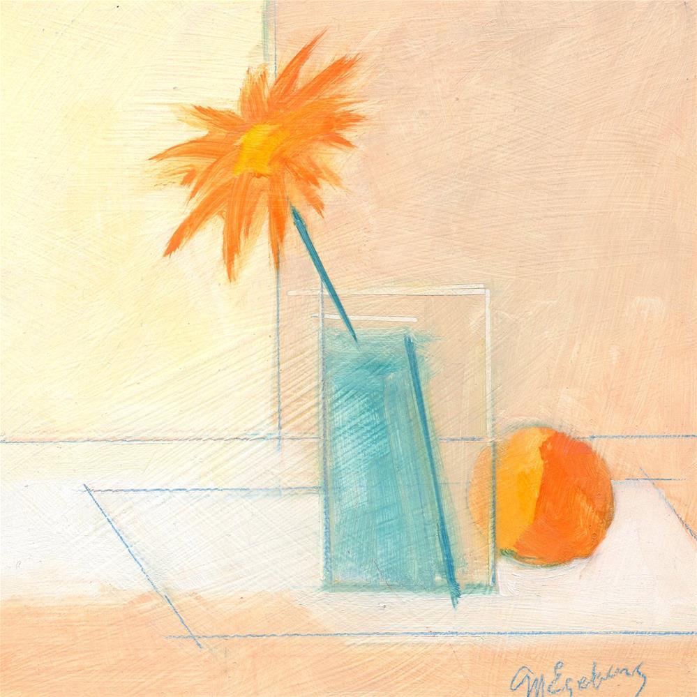 """Woodstock flower (Sketch)"" original fine art by Mitch Egeberg"