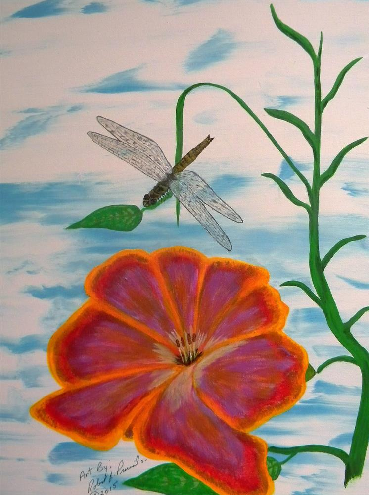 """Dragonfly"" original fine art by Robert Provencial"