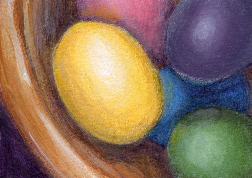 """Easter Eggs"" original fine art by Debbie Shirley"