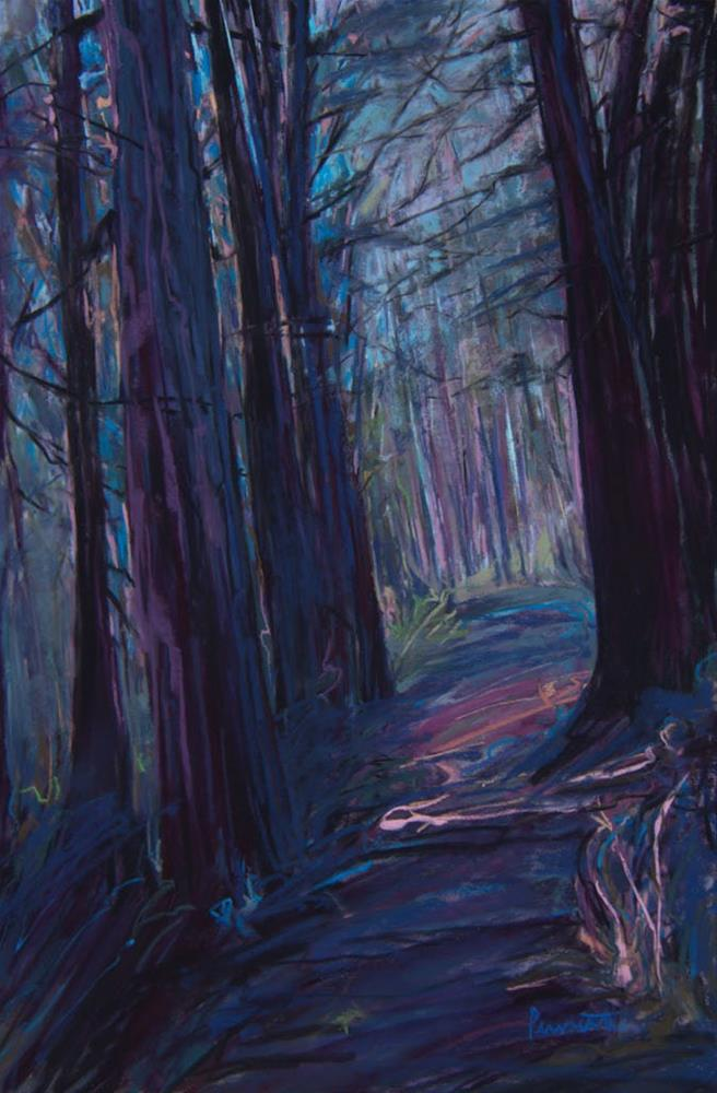 """Light on the Trail"" original fine art by Sarah Peroutka"