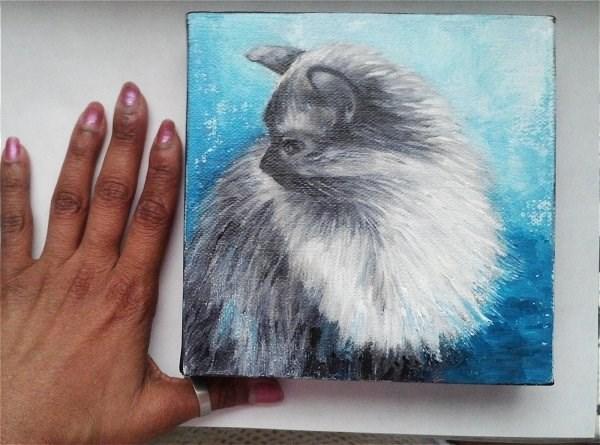 """Cat"" original fine art by Camille Morgan"