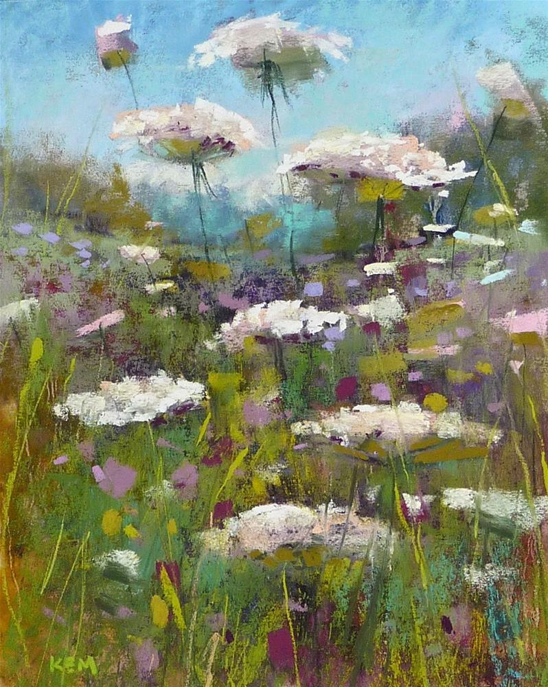 """Monday Pastel Demo...Queen Anne's Lace"" original fine art by Karen Margulis"