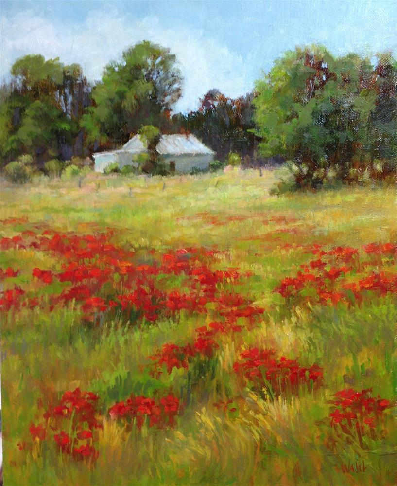 """Field of Poppies"" original fine art by Nancy Wahl"