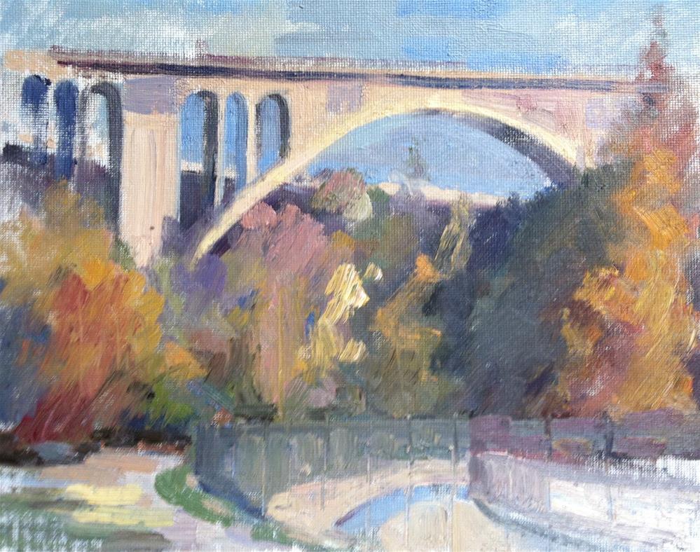"""Colorado Bridge, Pasadena"" original fine art by Karla Bartholomew"