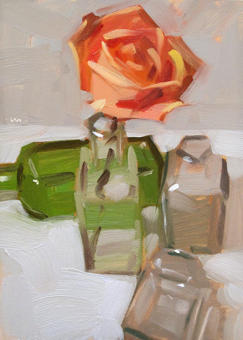 """Trying On Bottles"" original fine art by Carol Marine"