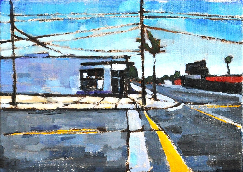"""A Street in PB"" original fine art by Kevin Inman"