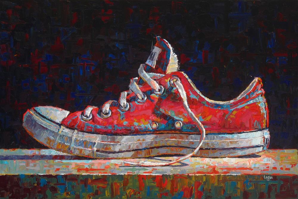 """Low Chuck Red"" original fine art by Raymond Logan"