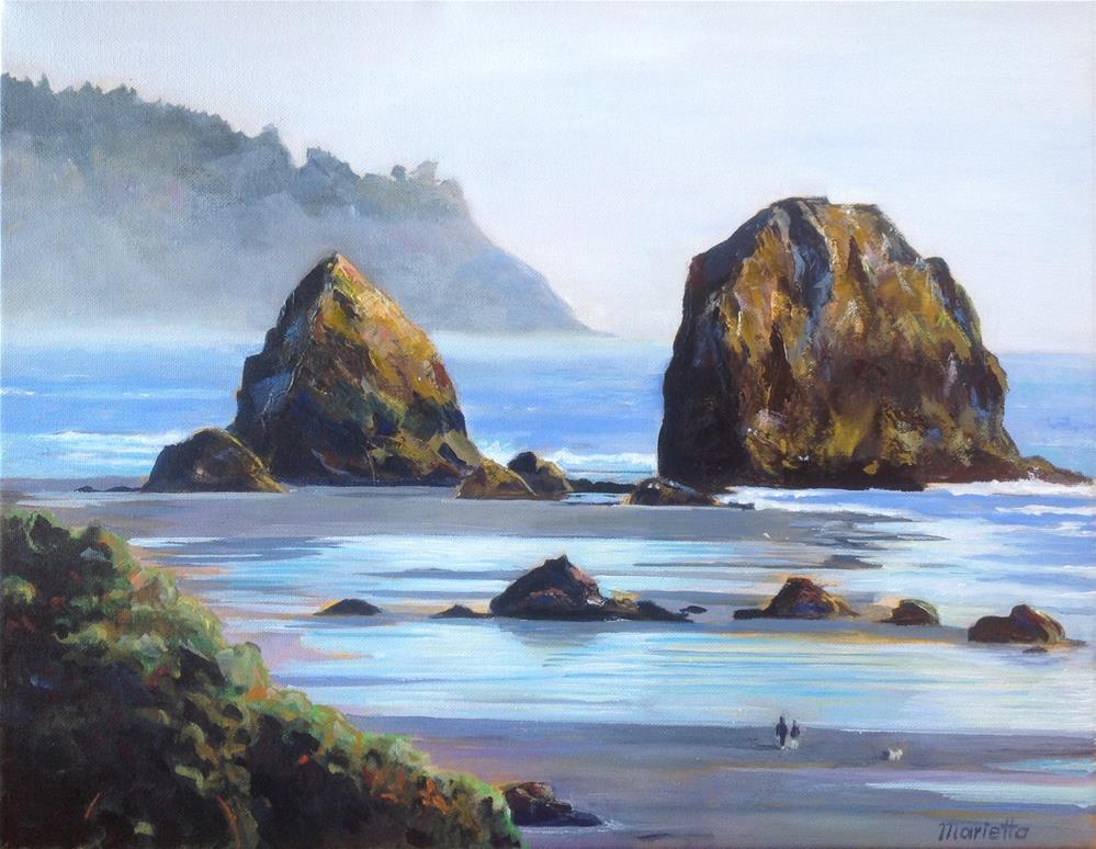 """Oregon Coast"" original fine art by Marietta Modl"